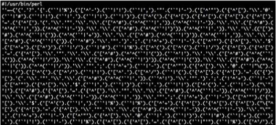Primer zakrite škodljive kode. Foto: letno poročilo SI_CERT, 2013