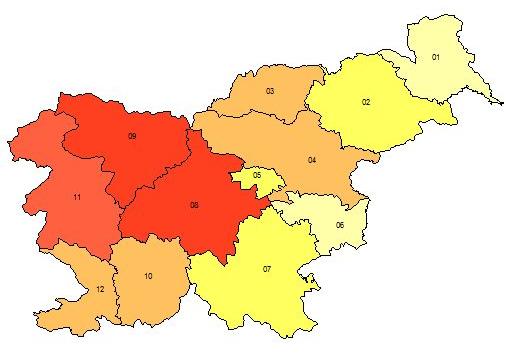 pocitnice slo regije