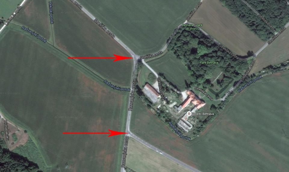 razvanjska cesta - dvorec betnava