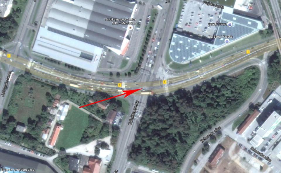križišče 5 - državna cesta 1 in tržaška cesta - Screen Shot 2016-01-08 at 13.10.50