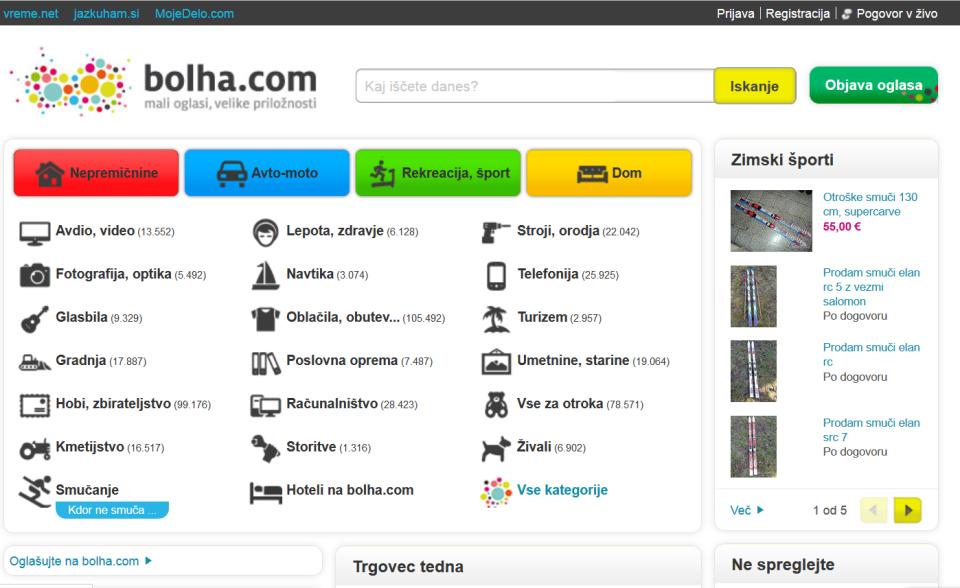 Portal bolha.com je bil v največkrat tarča neustavnega pridobivanja podatkov policije.