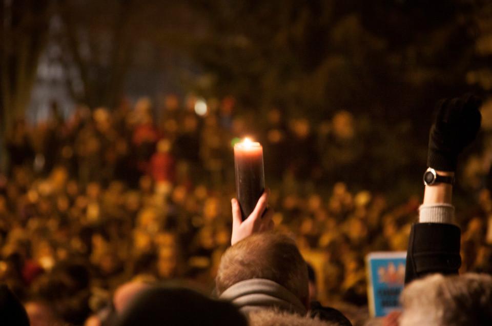 Shod v spomin na pariške napade na satirično revijo Charlie Hebdo. Foto: Michel G./Flickr