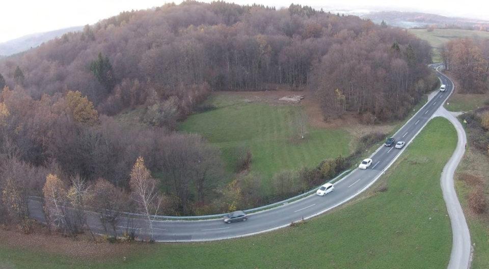 Zračni posnetek območja. Foto: DRSI