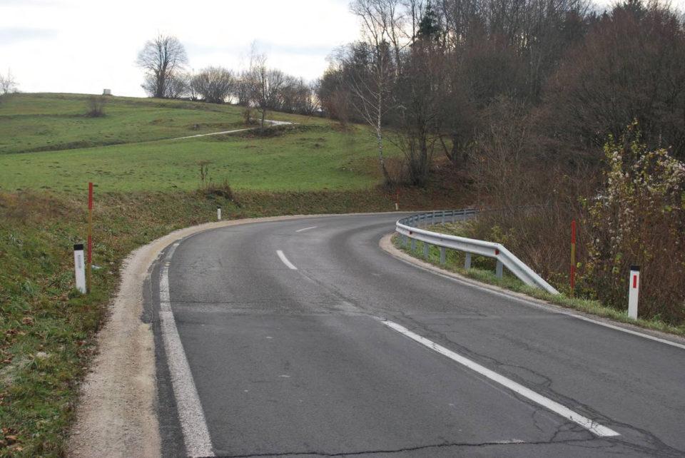 Desna krivina med km 6,000 in km 6,100 (pogled v smeri proti Metliki). Foto: DRSI