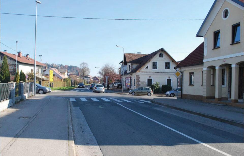 Pogled na križišče z odseka 1195 (Ljubljanska cesta). Foto: DRSI