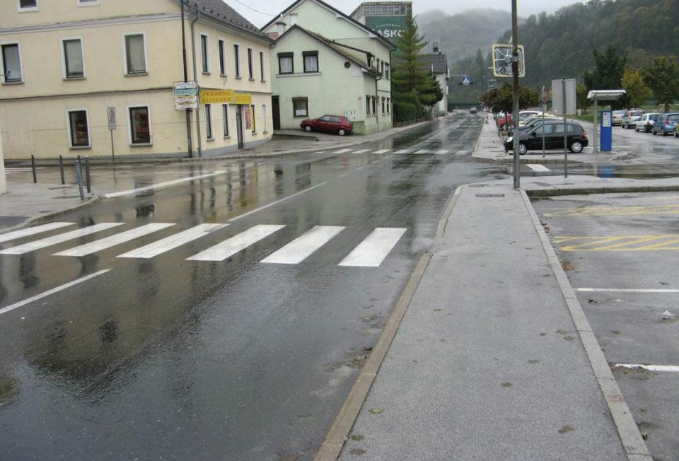 Pogled na križišče z odseka Laško – Breze – Šentjur. Foto: DRSI