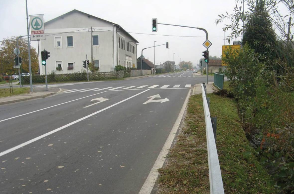 Pogled na križišče z glavne smeri. Foto: DRSI
