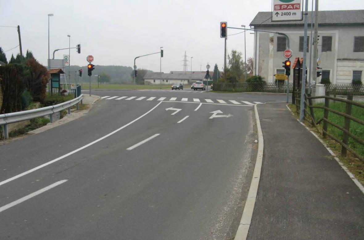 Pogled na križišče s stranske smeri. Foto: DRSI