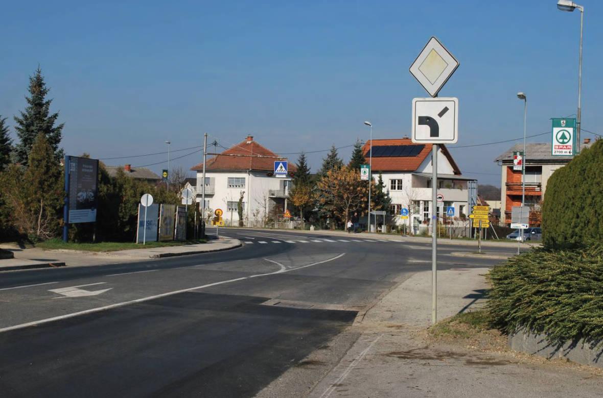 Pogled na križišče z odseka Ljutomer – Pavlovci. Foto: DRSI