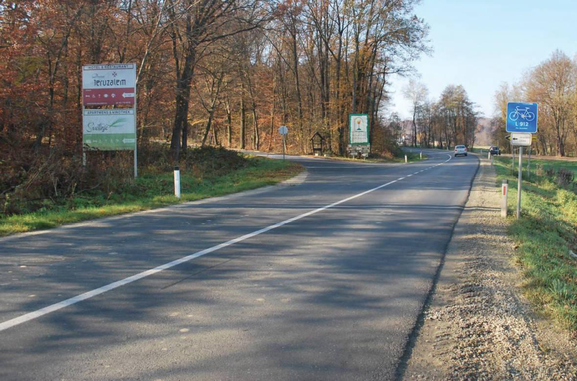 Pogled na križišče v smeri proti Pavlovcem. Foto: DRSI