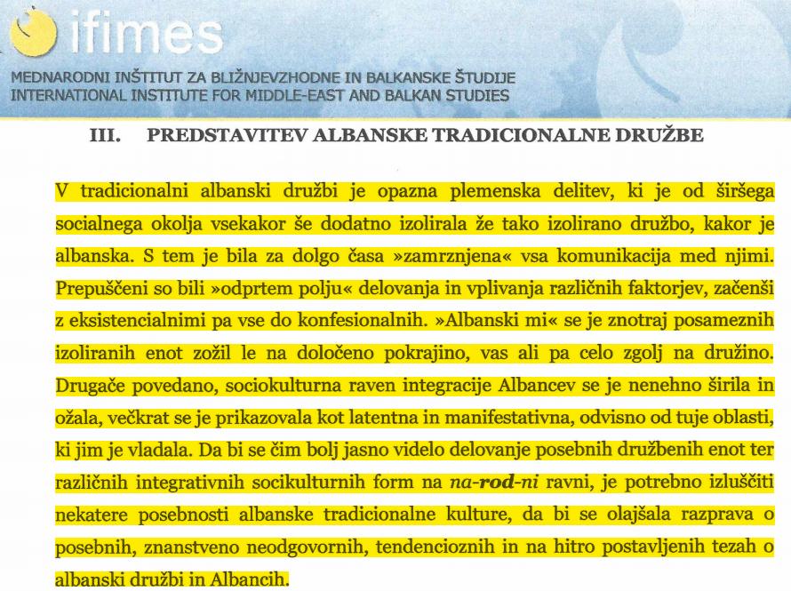 studija albanija skrita moc bese