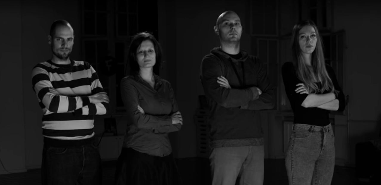 Pod črto v 2016: Anže Voh Boštic, Taja Topolovec, Rok Grča in Tanja Pirnat. Fotografija: Marko Kumer Murč