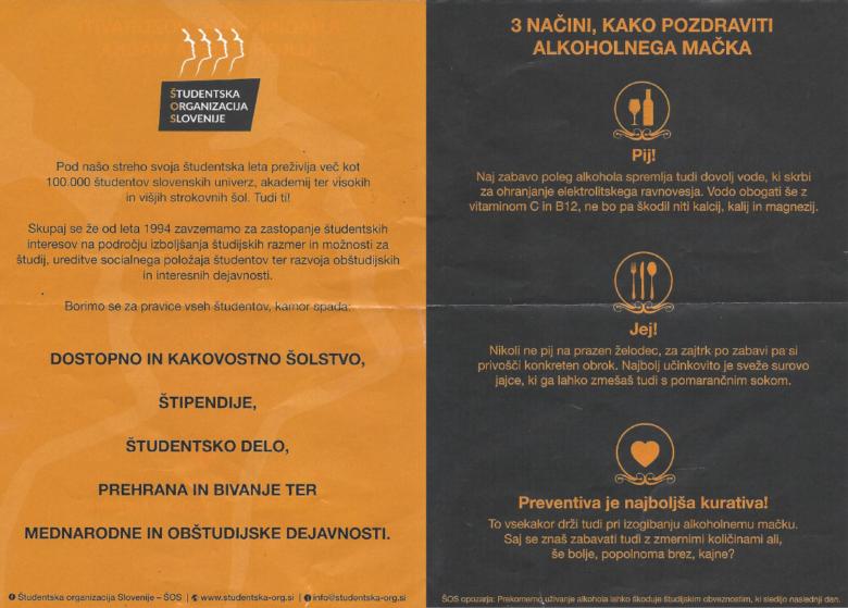 Promocijski material, ki ga je za ŠOS pripravila Nina Finžgar, direktorica M komunikacij.